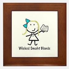 Book - Wicked Smaht Framed Tile