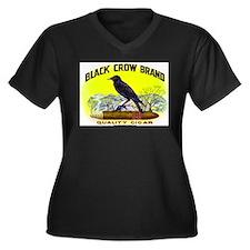 Black Crow Cigar Label Women's Plus Size V-Neck Da