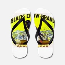 Black Crow Cigar Label Flip Flops