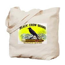 Black Crow Cigar Label Tote Bag