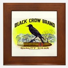 Black Crow Cigar Label Framed Tile