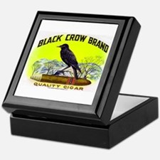 Black Crow Cigar Label Keepsake Box
