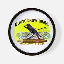 Black Crow Cigar Label Wall Clock