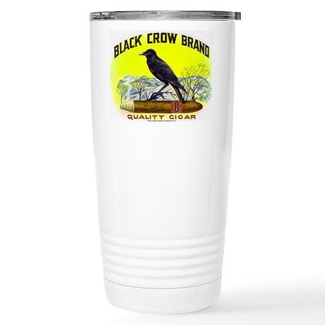 Black Crow Cigar Label Stainless Steel Travel Mug