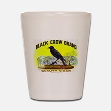 Black Crow Cigar Label Shot Glass