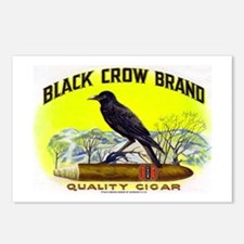 Black Crow Cigar Label Postcards (Package of 8)