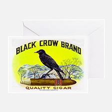Black Crow Cigar Label Greeting Card