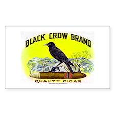 Black Crow Cigar Label Decal