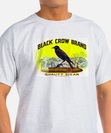 Black Crow Cigar Label T-Shirt