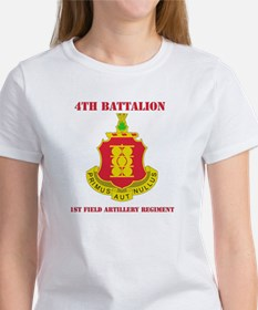DUI - 4th Bn - 1st FA Regt with Text Tee
