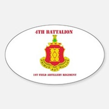 DUI - 4th Bn - 1st FA Regt with Text Decal