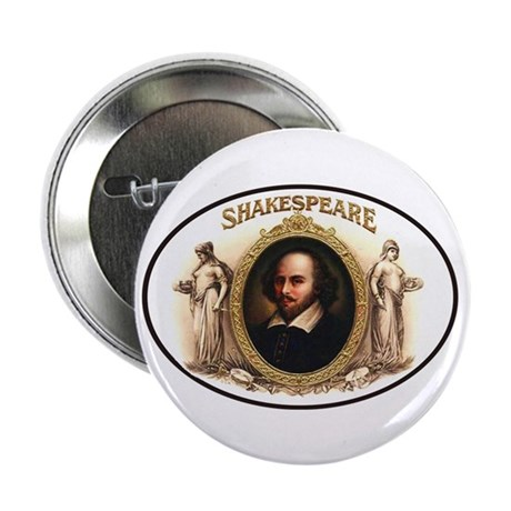 """Shakespeare Cigar Label 2.25"""" Button (100 pack)"""