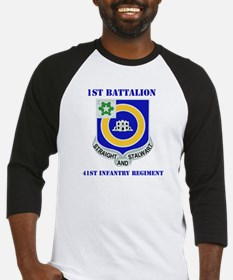 DUI - 1st Bn - 41st Infantry Regt with Text Baseba