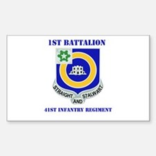 DUI - 1st Bn - 41st Infantry Regt with Text Sticke