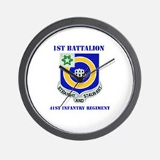 DUI - 1st Bn - 41st Infantry Regt with Text Wall C