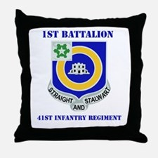 DUI - 1st Bn - 41st Infantry Regt with Text Throw
