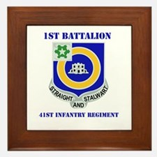 DUI - 1st Bn - 41st Infantry Regt with Text Framed