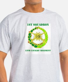 DUI - 1st Sqdrn - 13th Cav Regt with Text T-Shirt