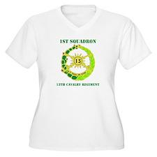 DUI - 1st Sqdrn - 13th Cav Regt with Text T-Shirt