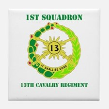 DUI - 1st Sqdrn - 13th Cav Regt with Text Tile Coa