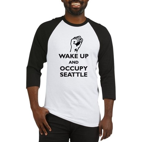 Occupy Seattle Baseball Jersey