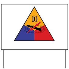 10th Armored Division Shirts Yard Sign