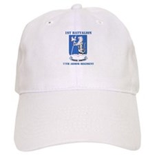 DUI - 1st Bn - 77th Armor Regt with Text Baseball Cap