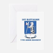 DUI - 1st Bn - 77th Armor Regt with Text Greeting