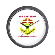 DUI - 4th Bn - 6th Infantry Regt with Text Wall Cl