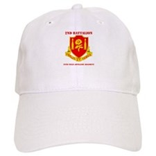 DUI - 2nd Bn - 29th FA Regt with Text Baseball Cap