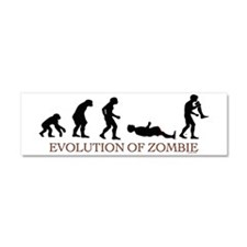 Evolution of Zombie Car Magnet 10 x 3