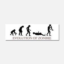 Evolution of Zombie Car Magnet 10 x 3