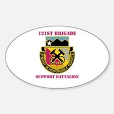 DUI - 121st Bde - Support Bn with Text Decal