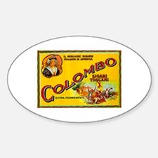 Colombo Cigar Label Sticker (Oval)