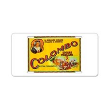 Colombo Cigar Label Aluminum License Plate