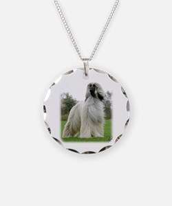 Afghan Hound 9Y247D-025 Necklace