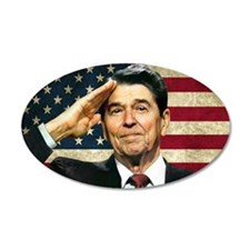 Reagan Flag... 22x14 Oval Wall Peel