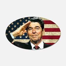 Reagan Flag... 22x14 Oval Wall Peel