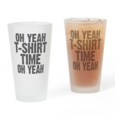 T-Shirt Time Drinking Glass