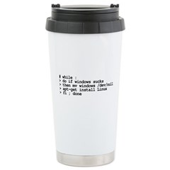 while : do if windows... Travel Mug