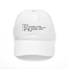 while : do if windows... Baseball Cap
