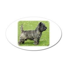 Cairn Terrier 9Y004D-024 22x14 Oval Wall Peel