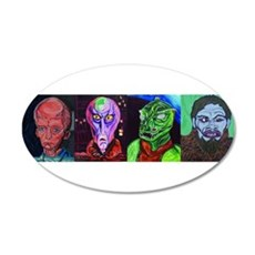 Aliens of Star Trek 38.5 x 24.5 Oval Wall Peel