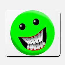 Light Green Smiley Face Mousepad