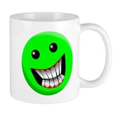 Light Green Smiley Face Mug