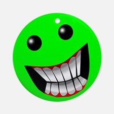 Light Green Smiley Face Ornament (Round)