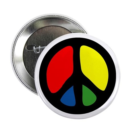 HIPPIE GROOVE PEACE Button