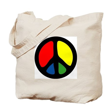 HIPPIE GROOVE PEACE Tote Bag