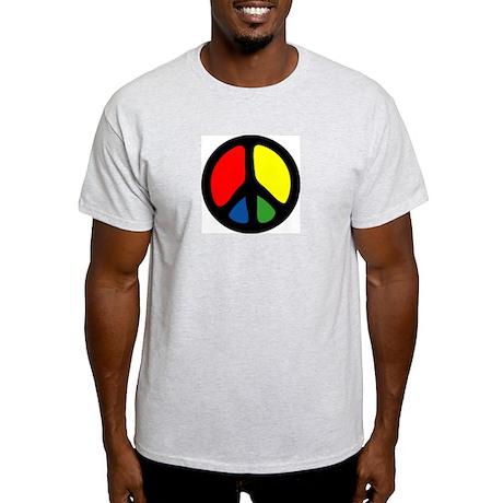 HIPPIE GROOVE PEACE Ash Grey T-Shirt