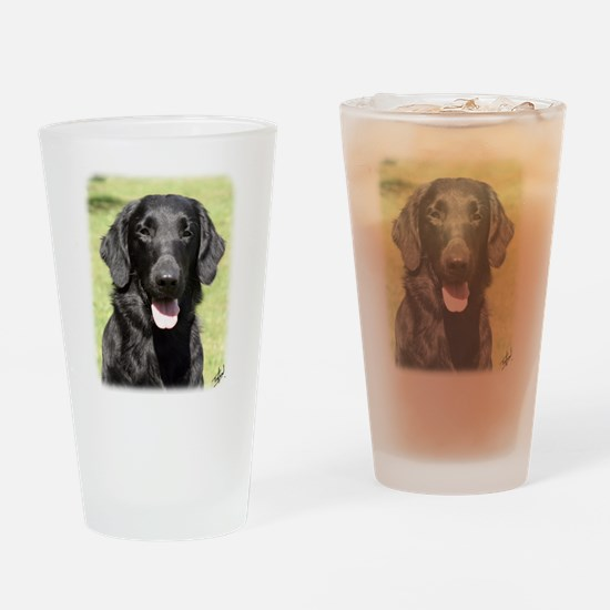 Flat Coated Retriever 9Y040D-040 Drinking Glass
